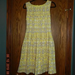 Women's Calvin Klein Yellow/Grey Sleeveless Dress
